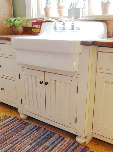 American Standard Country Kitchen Sink with butcher block counters (love black walnut distressed from Home Depot)