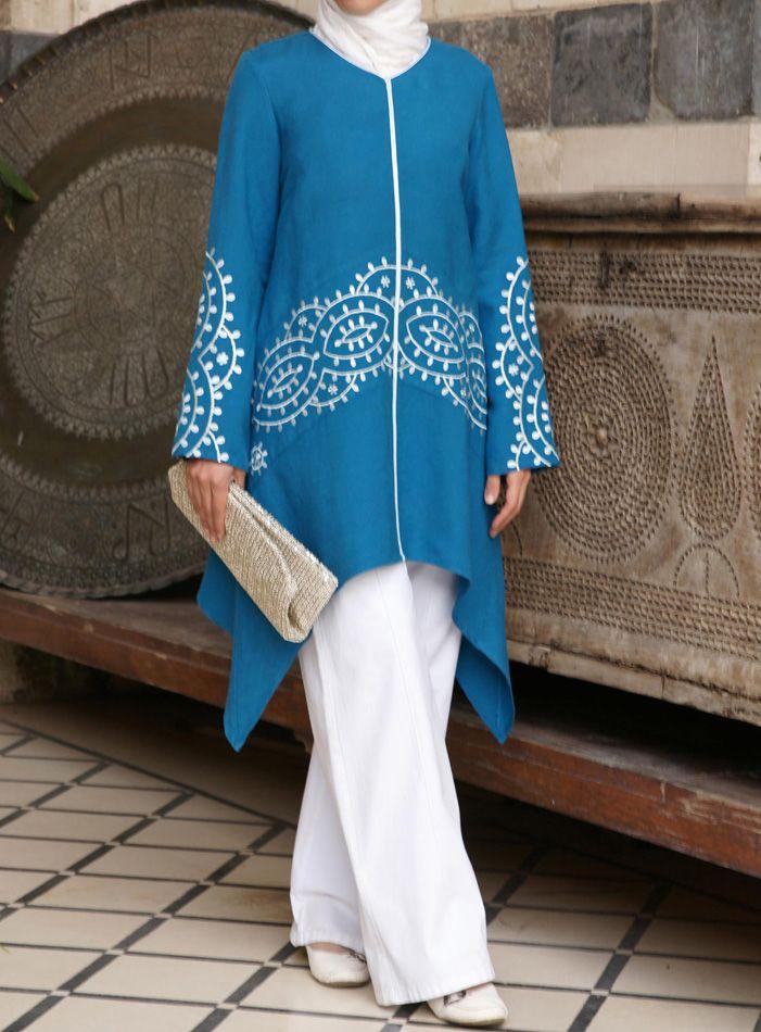 SHUKR USA | Soreya Embroidered Tunic