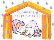 The Lord is My Shepherd (Psalm 23) crafts & ideas