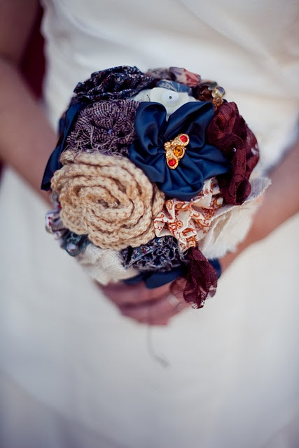 Fabric bouquets / fabric lowers ... thanks to Angelacoxphotography.com  and Crafting Mommies on Etsy.com!
