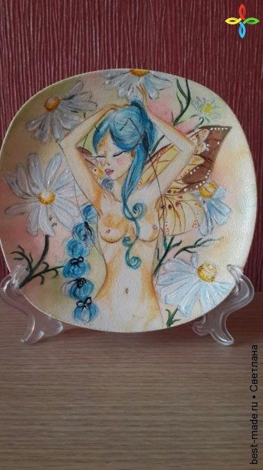 Тарелка декоративная, | Bestmade - изделия ручной работы