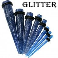 Wholesale Body Jewelry Blue Glitter Ear Expander Body Jewelry EX2-B
