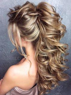 Long Wedding Hairstyles Bridal Updos via Elstile / http://www.deerpearlflowers.com/long-bridesmaid-hair-bridal-hairstyles/3/