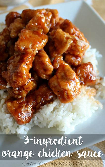 3-Ingredient Orange Chicken Sauce Recipe - Crafty Morning