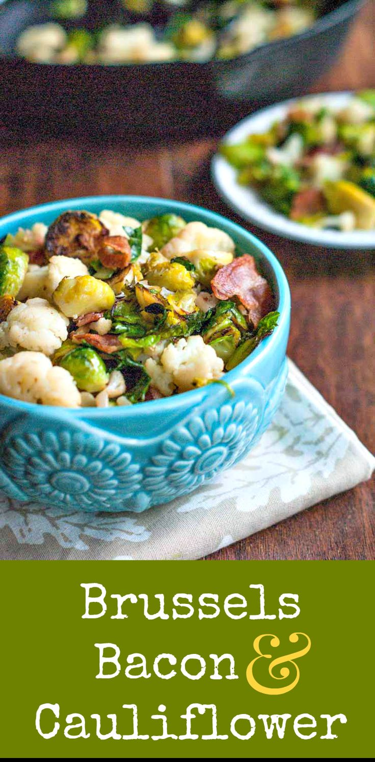Brussels, Bacon & Cauliflower Side Dish Denise is a featured food blogger on Dan330.com. This is her Brussels, Bacon & Cauliflower Side Dish recipe. I was thinking the other day about a con…