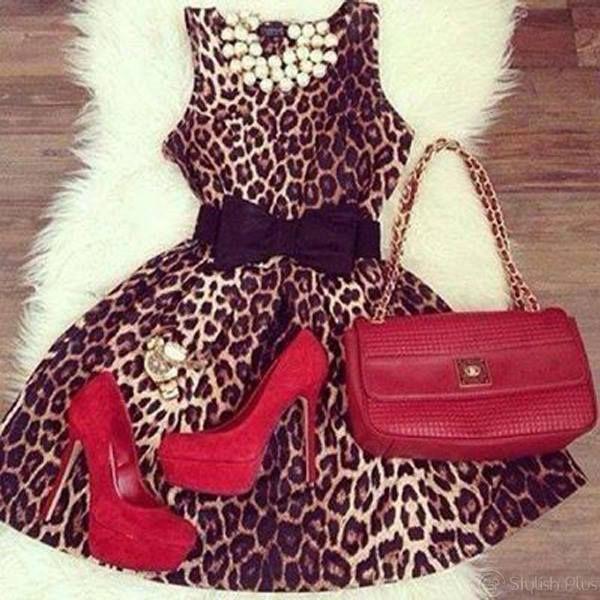 M- #dress #leopardato #redaccessorize