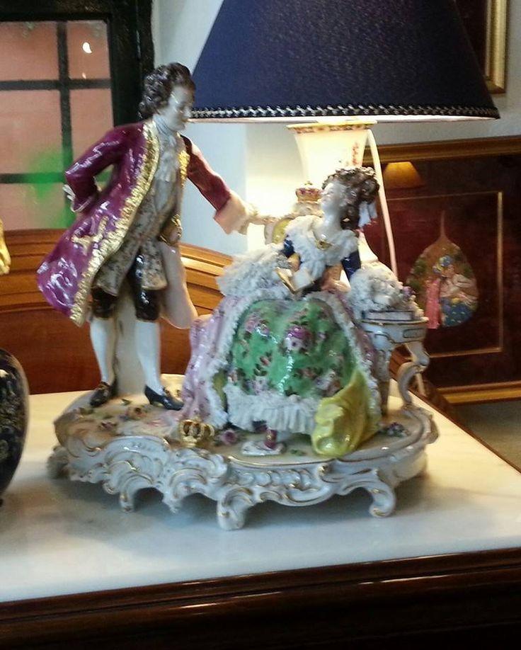 Italian capodimonti figurines