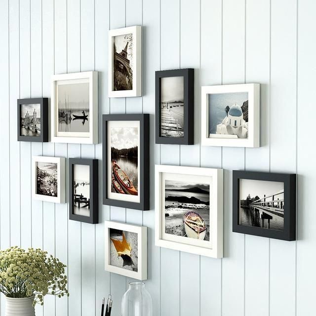 11 Pieces Set Europe Style Black And White Color Photo Frame Sets