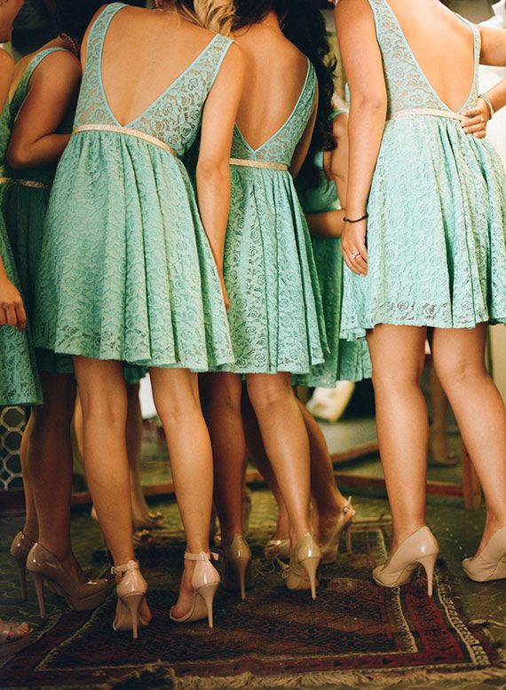 Teal Bridesmaid Dresses; Cut out Back