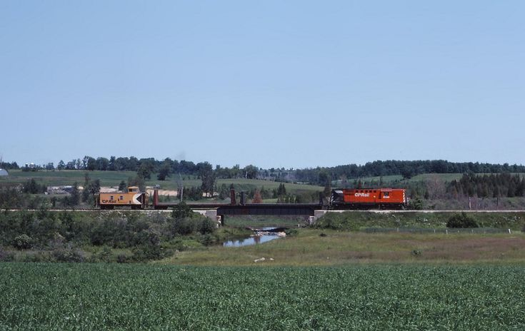 The Owen Sound to Toronto 'Moonlight' rolls south through the rolling countryside in Mount Forest. The Orangeville-Owen Sound section of track has been abandoned however townships along the route are still debating whether it is worth rebuilding the line, which would be part of the Orangeville and Brampton Railway