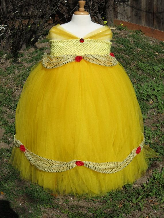 PRINCESS BELLE COSTUME DRESS/ BEAUTY AND THE BEAST DRESS:  This sparkly Princess Belle dress is made for your princess with lot of love and care. We