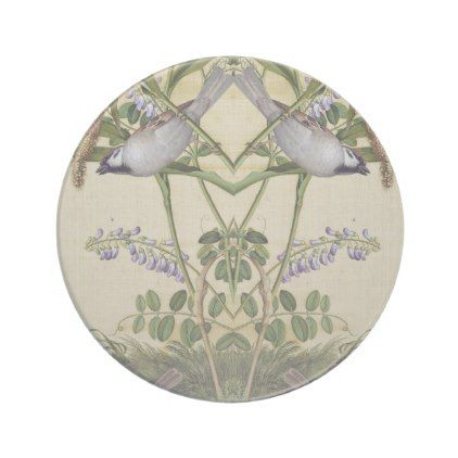Asian Bird Wheat Wildflower Flower Animals Coaster - diy cyo customize create your own personalize