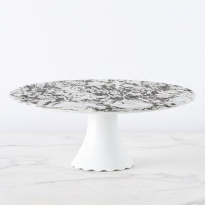 Granite texture | Background of marble in black Cake Stand - marble gifts style stylish nature unique personalize