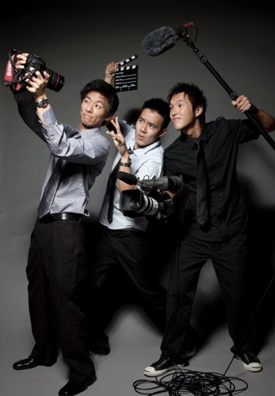 get it rolling ... Wong Fu Productions (Wesley Chan, Ted Fu, Phil Wang)
