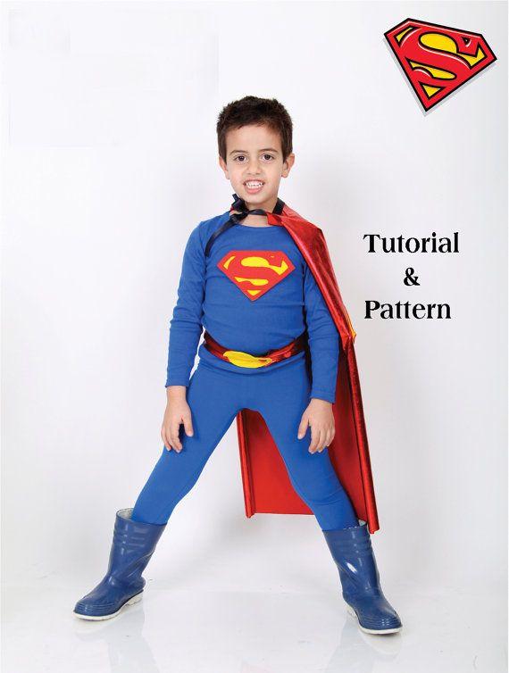 Superman DIY costume kit  Kids  SUPERMAN Halloween costume tutorial and  pattern PDF