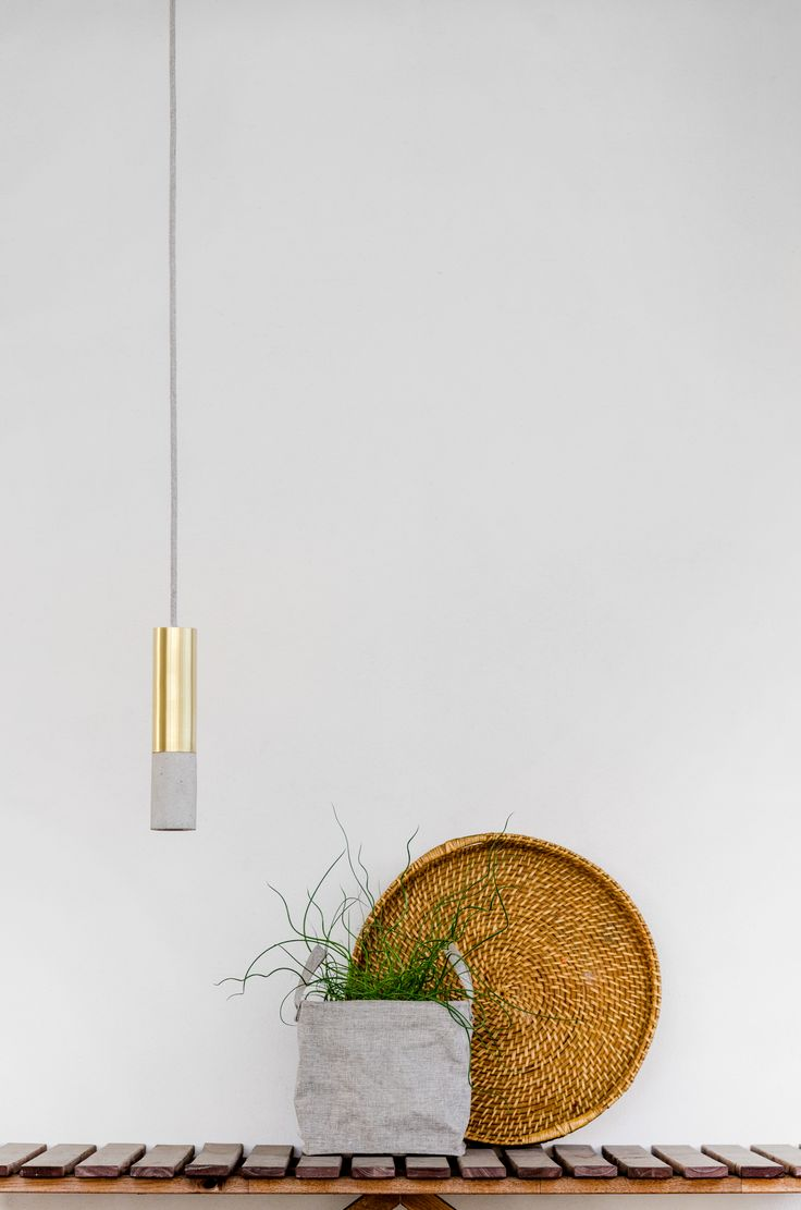 New Kalla Inox concrete lamps available soon. Here in brass finish and natural colour of concrete. #concrete #brass #design #lamps