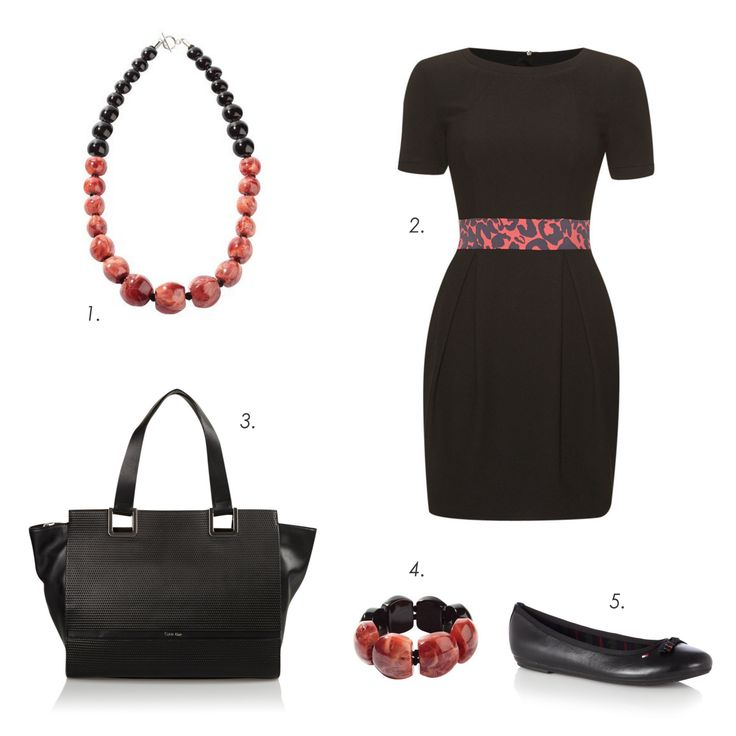 Shopping Outfit #ZSISKA 1.Neclace: Zsiska Evolution 2.Dress: Karen Millen 3.Bag: Calvin Klein 4.Bracelet: Zsiska Evolution 5.Ballerina shoes: Tommy Hilfiger