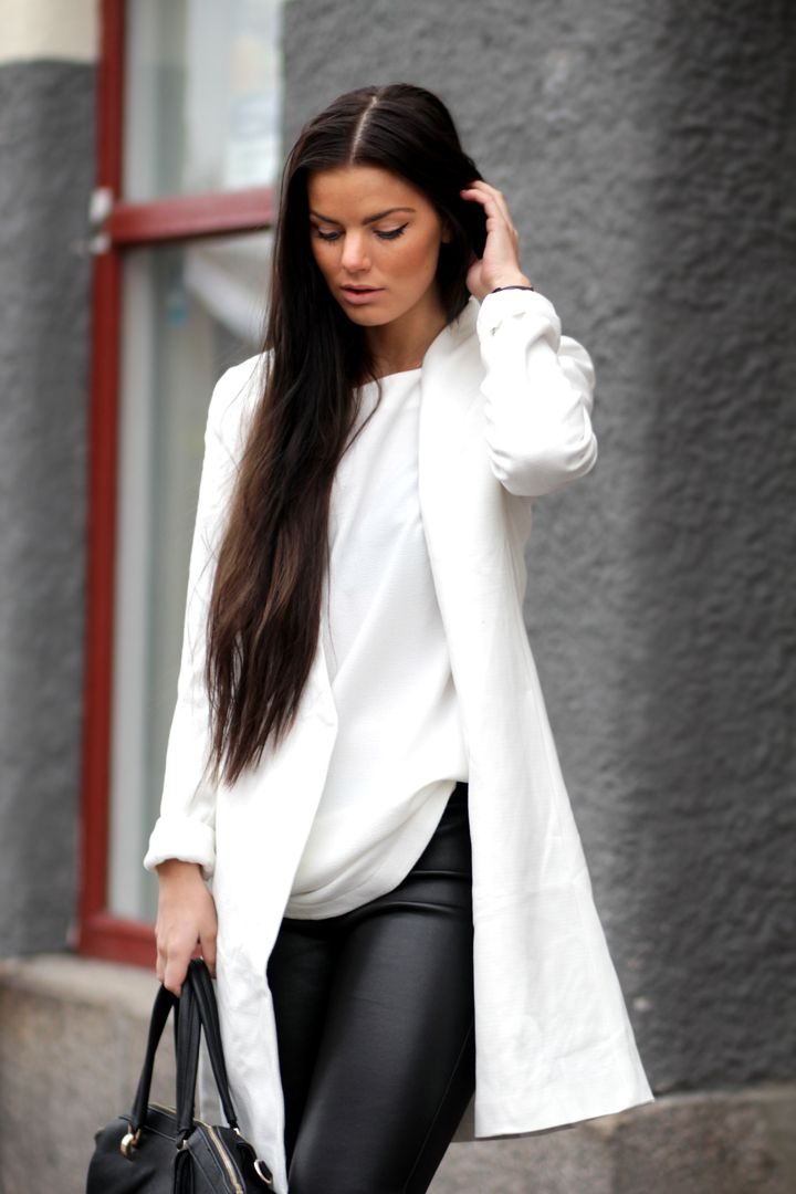 Best 20  White leather pants ideas on Pinterest | Leather pants ...