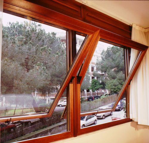 Aluminium Wood Center Pivot Window S 46 Panda Windows