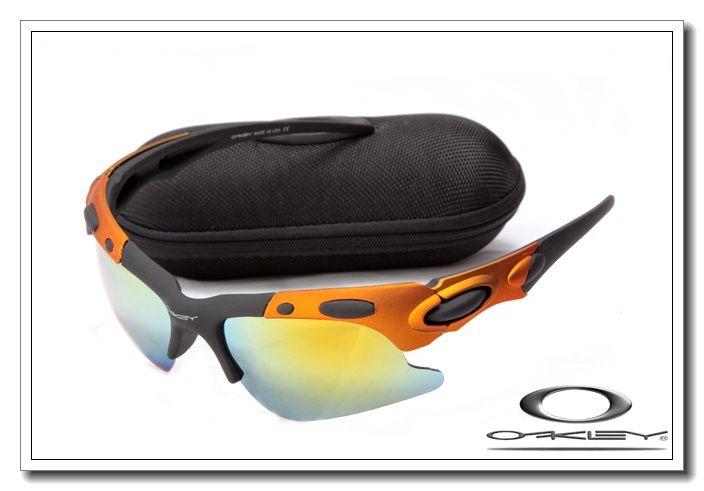 Oakley plate sunglasses matte black and orange / fire iridium $13.00