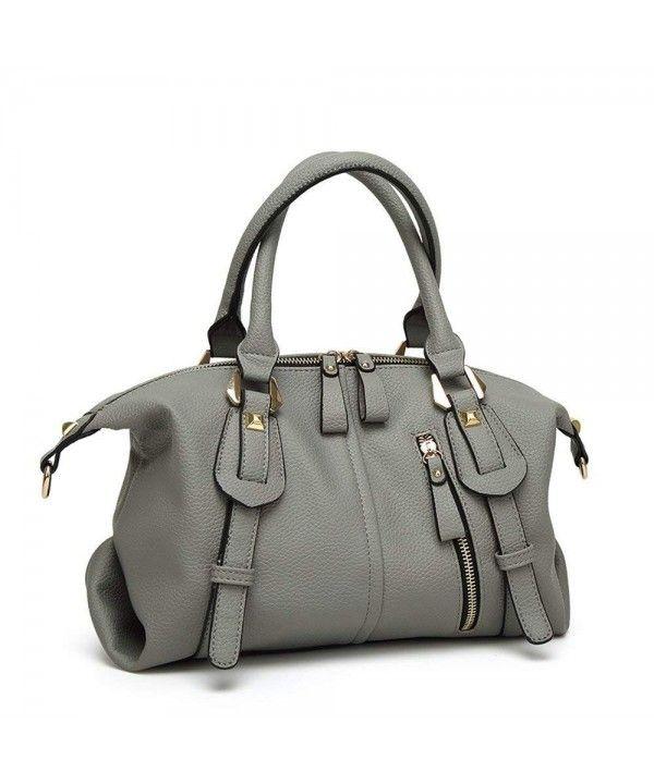 Women Top Handle Barrel Bag Soft Leather