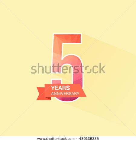 5 Years Anniversary with Low Poly Design
