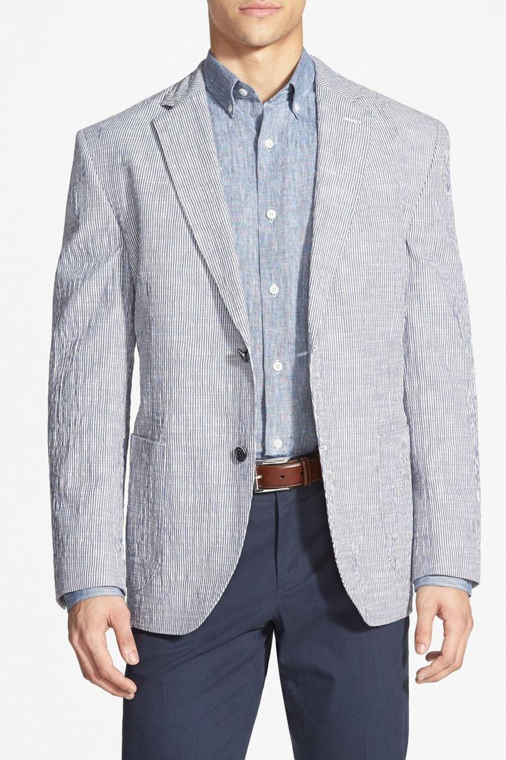 Classic Fit Seersucker Sport Coat Sport coat, Seersucker