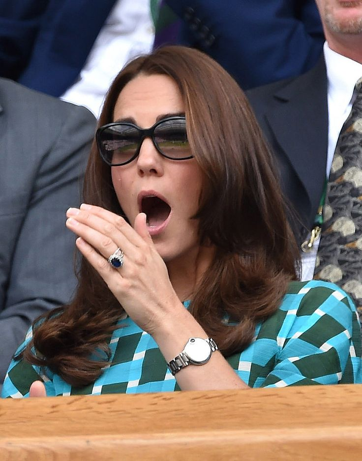 Kate Middleton and Prince William Take Wimbledon Very Seriously: Kate Middleton and Prince William were surrounded by celebrities at Wimbledon on Sunday, but their minds were in the game.Novak Djokovic, Beats Rogers, Duchess, Prince Williams, Cambridge 2014, Royal, Kate Middleton, Rogers Federer, Catherine