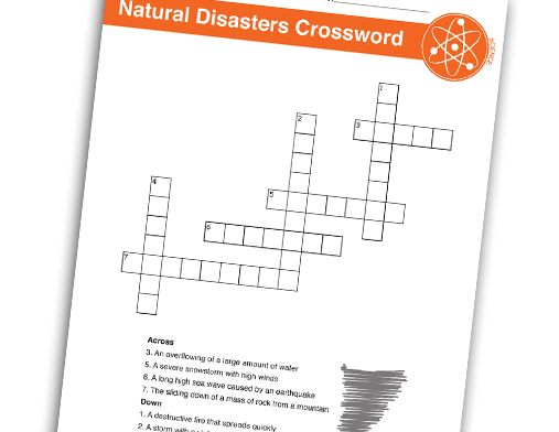 natural disasters crossword puzzle nd cross word pinterest science search and crossword. Black Bedroom Furniture Sets. Home Design Ideas