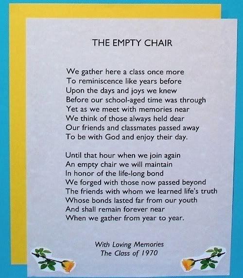 Best empty chair poem ideas on pinterest reunions