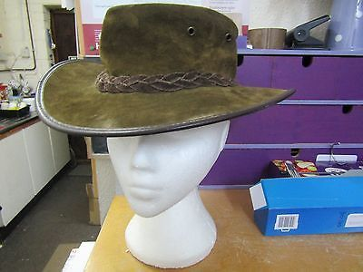 #Barmah 1061 #foldaway brown suede #leather waterproof bush hat made in australia,  View more on the LINK: 	http://www.zeppy.io/product/gb/2/322400393991/
