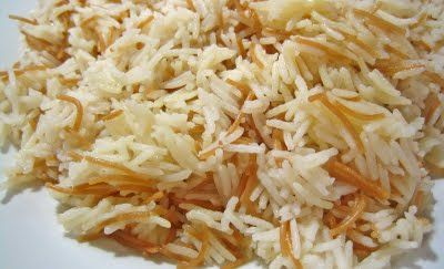 Vermicelli rice is by far the most common dish cooked in Syria. It is served almost on a daily basis in any Syrian household. It is not a meal on its own right but it accompanies main dishes. The rice is served next to vegetable stews, yoghurt based dishes and some oven baked ones.