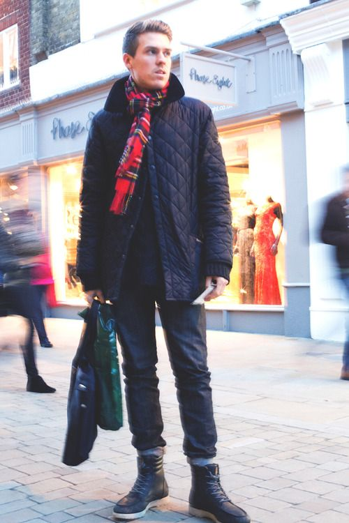 'Student Patrick loves his Barbour quilted jacket.\u00a0'
