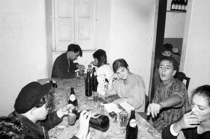 O João Baptista, o Alfredo, a Madalena, o Rui Agulha e demais amigas numa noite dentro de convívio