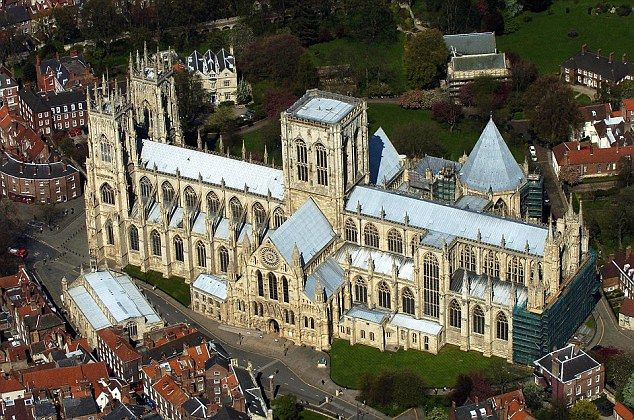 York Minster is the second largest Gothic cathedral in Northern Europe at 158 metres long with each of its three towers 60 metres high