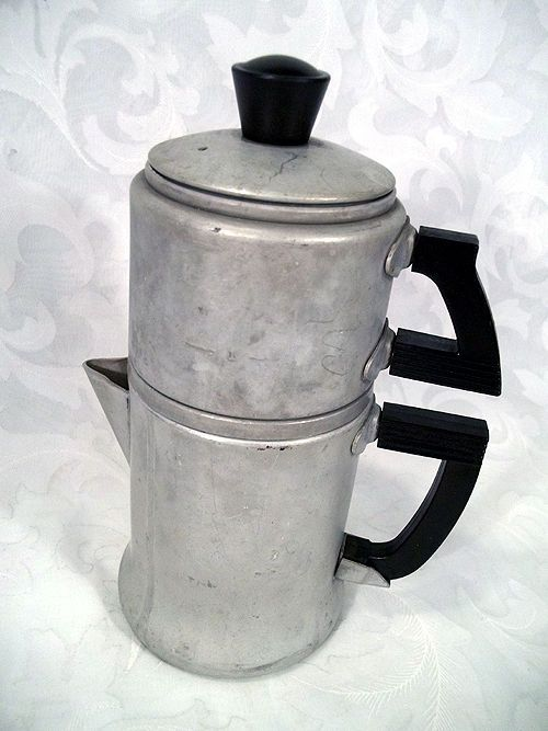 Vintage wear-ever 2 cup aluminum stove-top drip coffee maker model 3042 Drip coffee maker ...