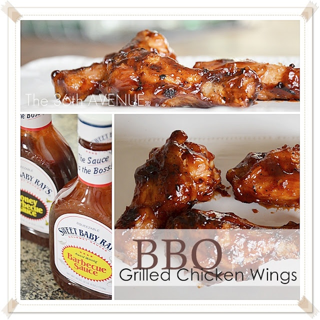 BBQ wings. Lovely step by step pictures and no brainer sauce. 36 Avenue.
