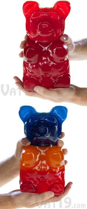 In case the 26-pound Gummy Bear I pinned was just too decadent for you, here's a five-pound one.