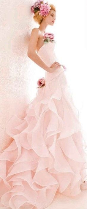Modern Fairytale / the pink fairytale book / karen cox / pink princess gown Blush pink Gown