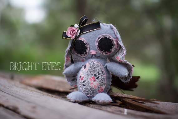 Lop Eared Bunny Plush by Brighteyesshop on Etsy,