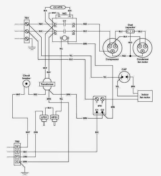 Electrical Wiring Diagrams For Air Conditioning Systems Part One Electrical Knowhow Electrical Wiring Diagram Hvac System Hvac