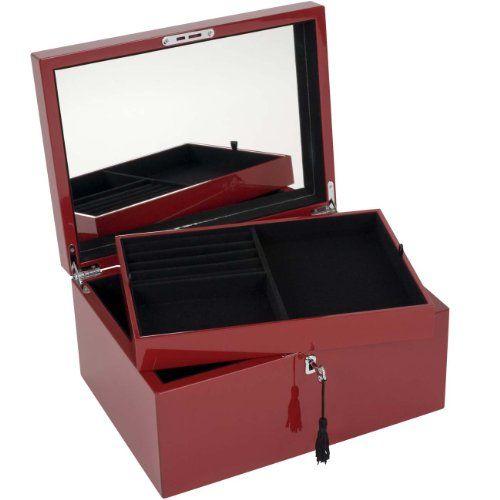 GIFTCOMPANY Tang Schmuckbox mit Schloss groß, rot Siehe mehr unter http://www.woonio.de/p/giftcompany-tang-schmuckbox-mit-schloss-gross-rot/