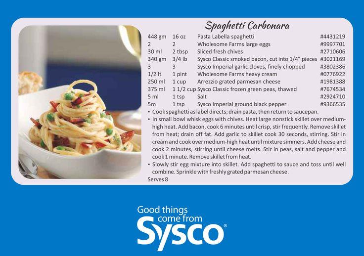 Valentine's Day Menu Ideas: Spaghetti Carbonara #ILoveSyscoBrand