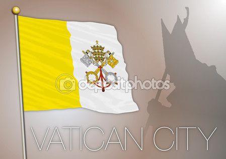 Santa Sede, bandiera della città del Vaticano, archivio di vettore, illustrazione — Vettoriali Stock © frizio #83286600