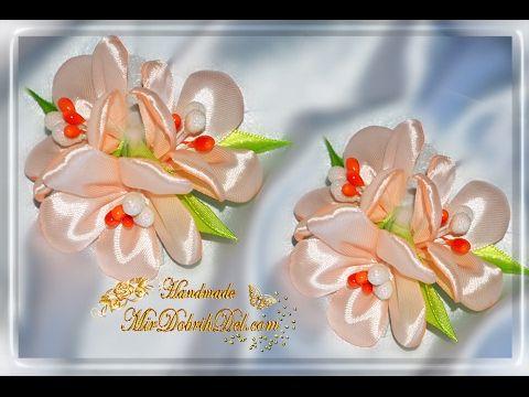 "Заколка канзаши ""ВЕСЕННИЕ ЦВЕТЫ"" | Spring flowers kanzashi"