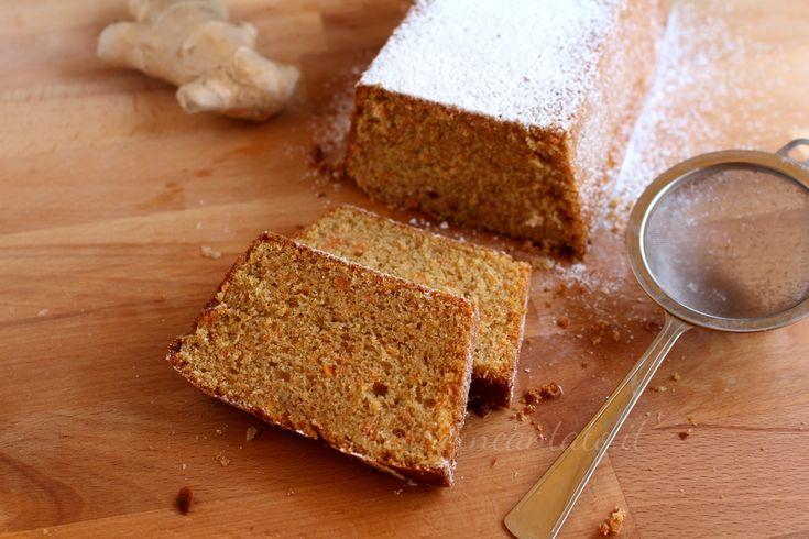 Ideale per una colazione sana e gustosa, il cake carote e zenzero è stato pensato e preparato con farine semintegrali zucchero di canna e olio di semi.