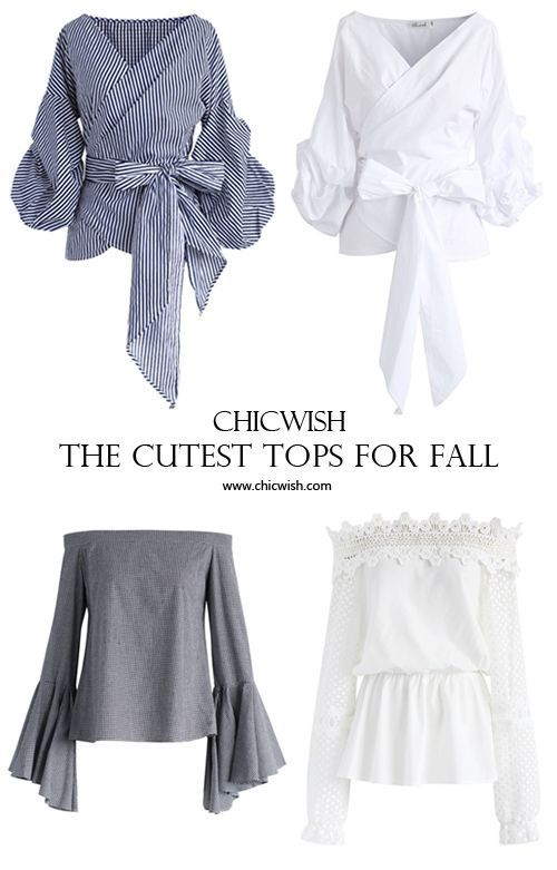 So much for your Plain Jane tops getting all of the shine this fall.Step out with elegance( yet modesty) in our new top collection. www.chicwish.com