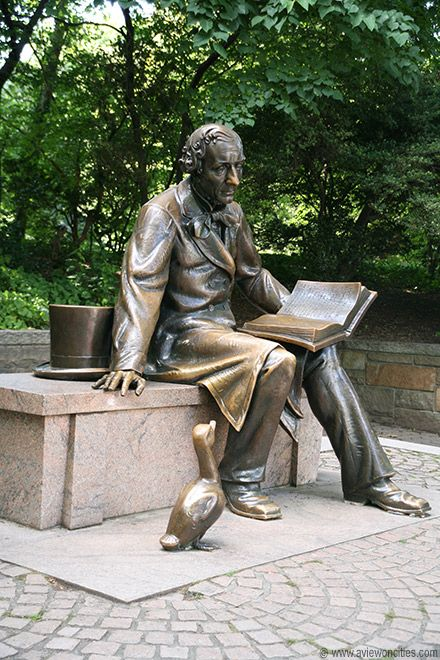 Statue of Hans Christian Andersen, Central Park, New York City