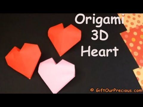 Origami 3D Heart - How To Fold A Puffy 3D Heart