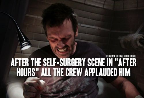 """Reason 354: After the self surgery scene in """"After Hours"""" all the crew applauded him."""